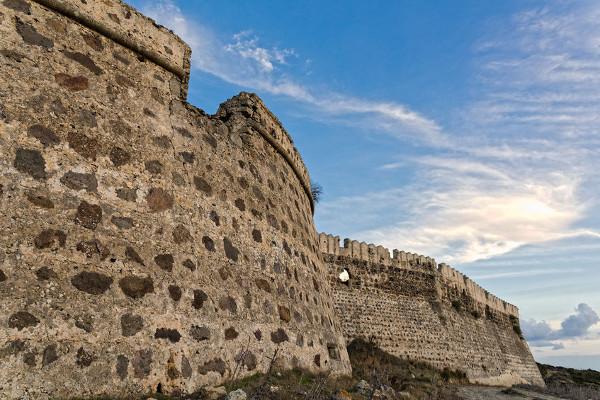 Mauern des Antimachia Kastells
