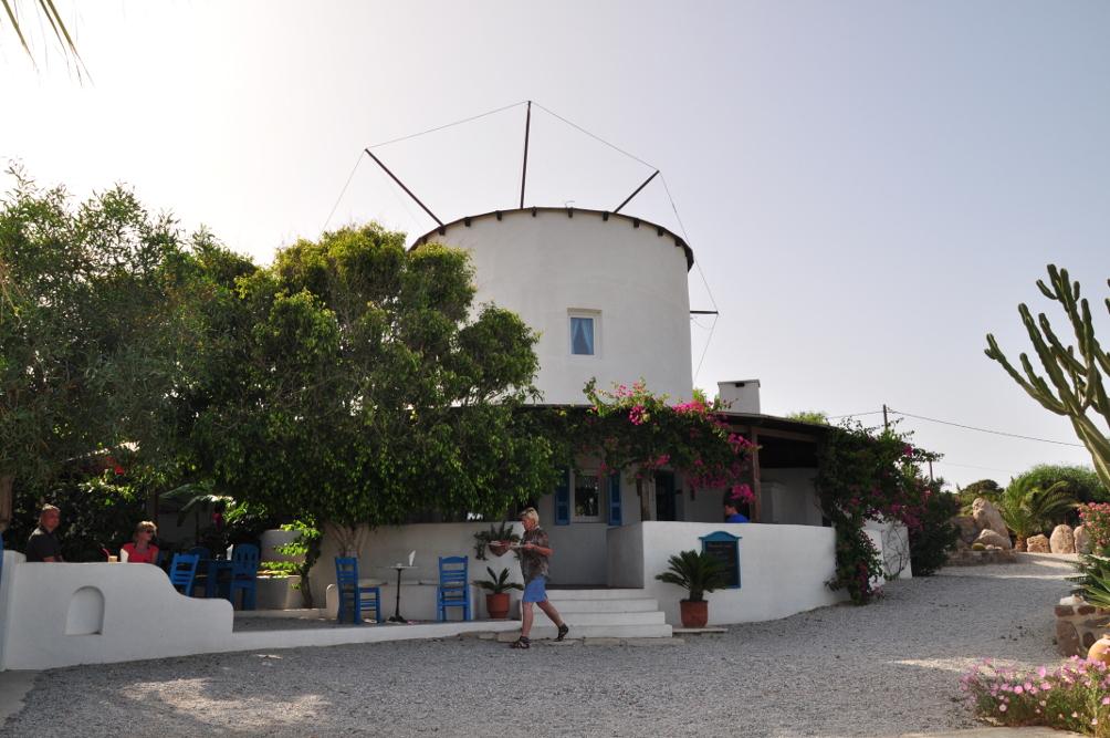 Café Große Mühle auf der Kefalos Halbinsel