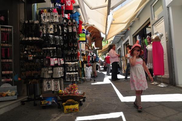 Shopping Gasse Ifestou in Kos-Stadt