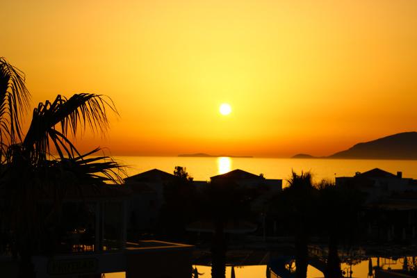 Sonnenuntergang bei Marmari