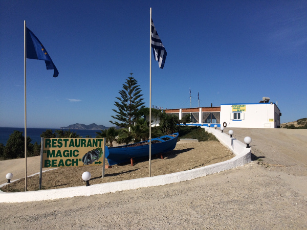 Das Restaurant Magic Beach auf Kos