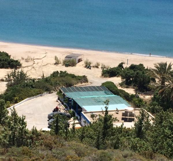 Blick auf den Markos Beach von oben