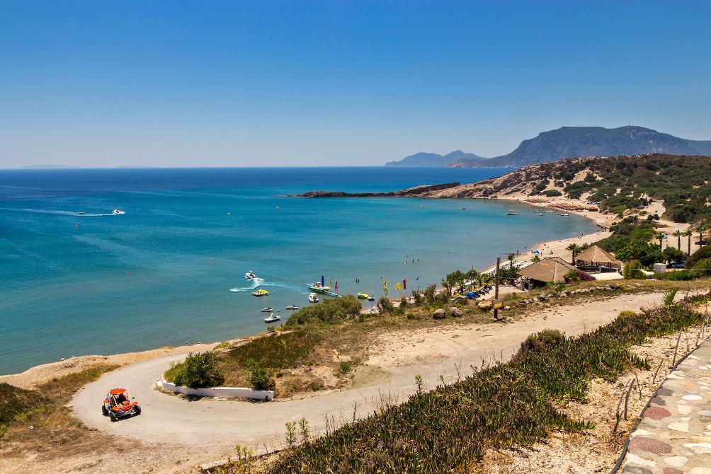Blick über die Bucht am Paradise Beach