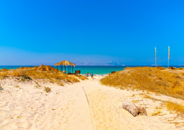 Weg zum Tam Tam Beach Strand auf Kos