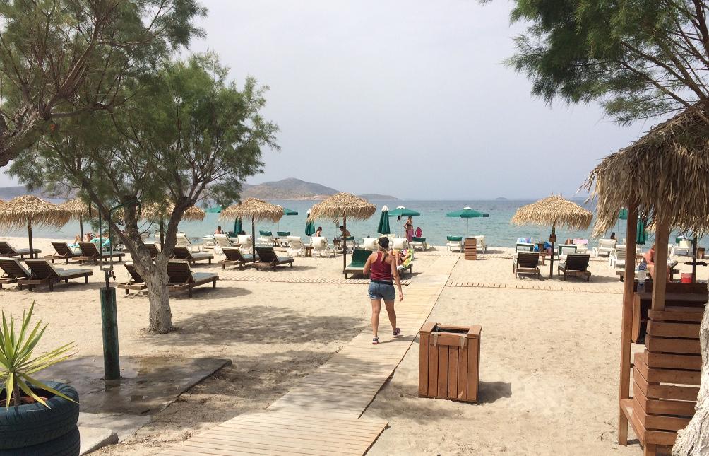 Tigaki Beach beim Hotel Dimis
